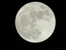 Close-up Of Full Moon At Night
