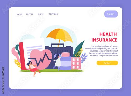 Fotografie, Obraz Health Insurance Page Design