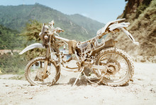 Abandoned Old Motocross Motorc...
