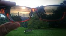 View Of Sunset Through Sunglasses From Royal Botanic Gardens