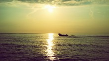 Small Fishing Boat Sailing Int...