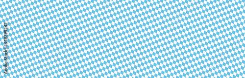 Fényképezés seamless blue white checkered Oktoberfest 2020 background