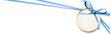 Blue Colored Ribbon Bow With H...