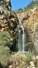 Low Angle View Of Waterfall At Morialta Conservation Park