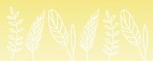 Ears Of Wheat Yellow Illustration