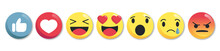 Set Of Emoticon Buttons - Coll...