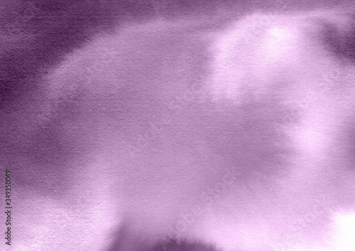 Fototapeta Watercolor violet textured background. Hand drawn flowing colors, brush smears and splashes. Pastel template for design and decoration. Abstract texture backdrop obraz