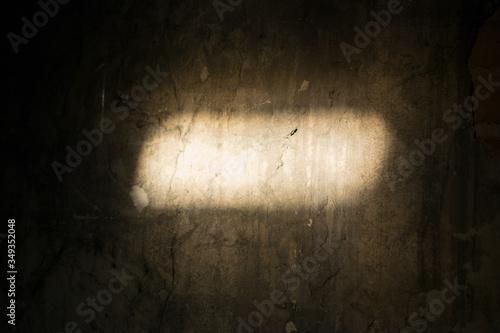 Billede på lærred Sunlight Falling On Wall