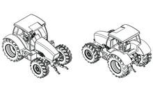 Farm Tractor Concept In Outlin...