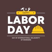 Happy Labor Day Banner. Vector Illustration, Design Template.