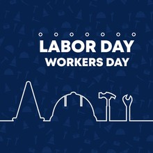Happy Labor Day Banner. Vector...