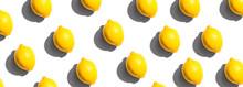 Fresh Yellow Lemons Overhead V...
