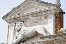 Detail Of The Facade Of The Basilica Of St Mark In Venice