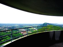 Scenic View Of Green Landscape Seen From Lookout Tower