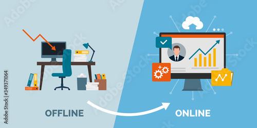Tableau sur Toile Offline to online business success