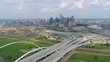 Interstate 30 Tom Landry Freeway Bridge Dallas Texas USA Drone Video