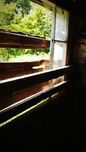 Weathered Window Of Barn
