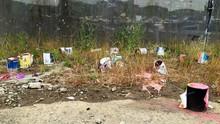 Paint Bucket On Roadside