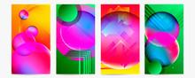 Set Geometric Colors Fluid Sha...