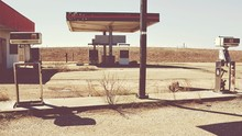 View Of Empty Old Fuel Pump