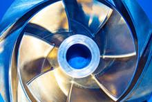 Metal Propeller Close-up. Meta...