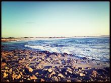 Rocky Beach At Sunny Day