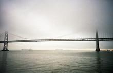 Golden Gate Bridge On Misty Day