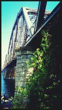 Railroad Bridge Over River
