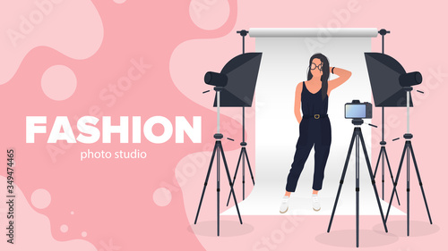 Carta da parati Fashion photo studio banner