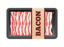 Sliced Bacon Package In Transp...