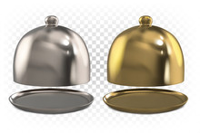 Ajar Golden And Silver Cloche ...