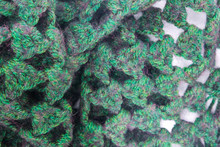 Green Knitted Scarf Texture Ba...