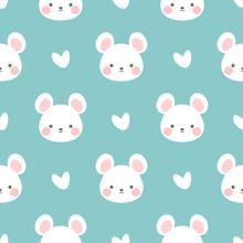 Mouse Pattern, Cute Cartoon Mi...