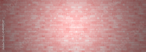 Photo Pastel pink brick wall texture grunge sweet wallpaper  vintage stonewall for room baby girl design interior, backdrop cafe, nursery woman concept