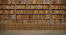 Panorama Old Books On Wooden S...