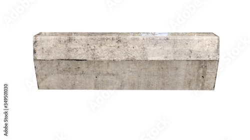 concrete curb simple one-dimensional form with a width of a meter, Illustration Canvas-taulu
