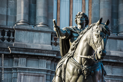 """Equestrian sculpture of Charles IV of Spain located at Manuel Tolsa square in Mexico city downtown. This sculpture is better know as """"El caballito"""""""