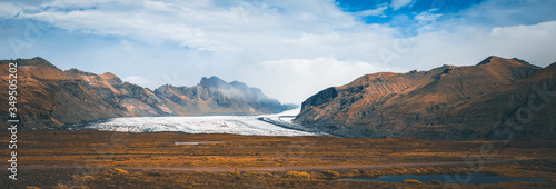 Photo Panorama View of the glacier of Iceland