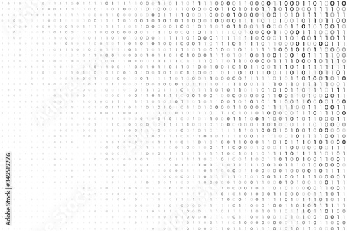 Cuadros en Lienzo digital white background with binary code numbers