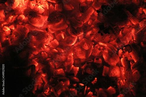 Fotografiet Detail Shot Of Burning Coal