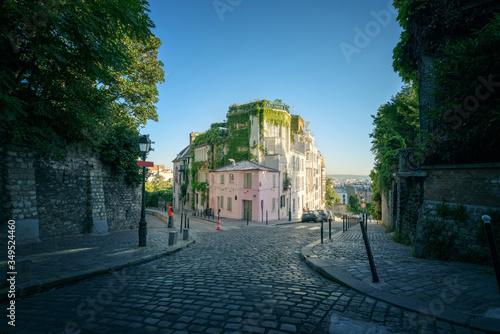 quarter Montmartre in Paris, France #349524460