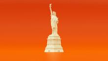 White Orange Statue Of Liberty...