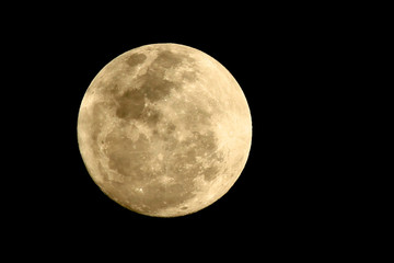 Full Moon Against Clear Sky At Night