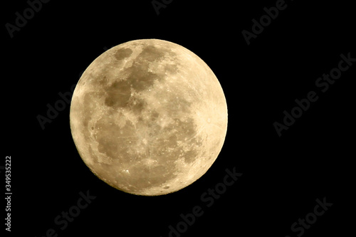 Fotografie, Obraz Full Moon Against Clear Sky At Night