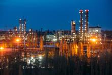Chemical Factory At Summer Nig...
