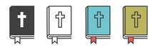 Christian Bible Icon Vector, B...