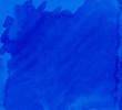 Leinwandbild Motiv blue watercolor background