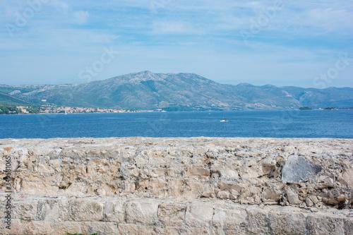 Fotografie, Obraz View from Korcula Island Old Town, Croatia, Europe