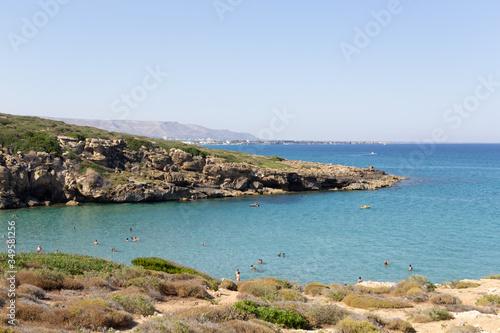 Fotografia La spiaggia di Calamosche nella riserva naturale di Vendicari nella Sicilia orie