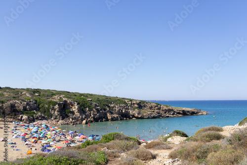 Carta da parati La spiaggia di Calamosche nella riserva naturale di Vendicari nella Sicilia orie